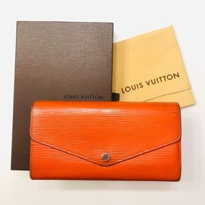 LOUIS VUITTON Mandarin Epi Sarah Wallet NM w box